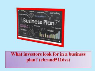 What investors look for in a business plan?