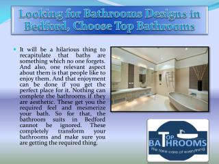 Looking for Bathrooms Designs in Bedford, Choose Top Bathrooms