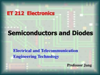 ET 212  Electronics