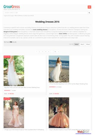 Designer and Affordable Wedding Dresses