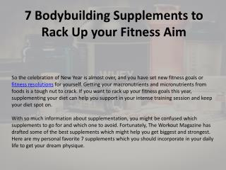 7 Bodybuilding Supplements to rack up your fitness aim