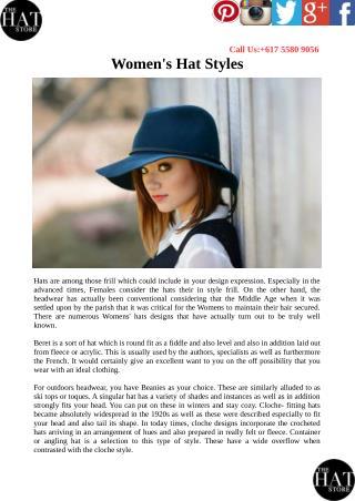 Women's Hat Styles
