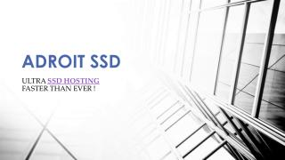 Providing ultimate SSD Hosting and Wordpress Hosting Solutions - Adroit SSD