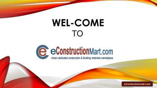 eConstructionMart - Online Construction Materials Marketplace