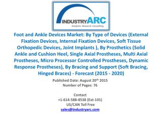 Foot and Ankle Devices Market: Embracing Additive Manufacturing lately.