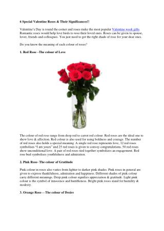 6 Special Valentine Roses & Their Significances!!
