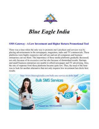 Best Bulk SMS Gateway Provider in India