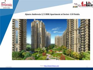 Ajnara Ambrosia 2 BHK Apartment at Noida Sector-118
