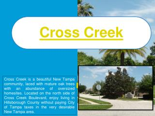 Cross Creek Homes For Sale