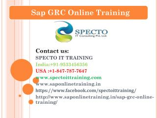 sap grc 10 training in usa,malaysia,south africa