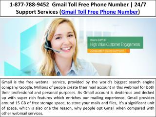 Toll Free 1-877-788-9452 - Gmail Toll Free Phone Number