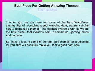 Best WordPress Themes | ThemeMags
