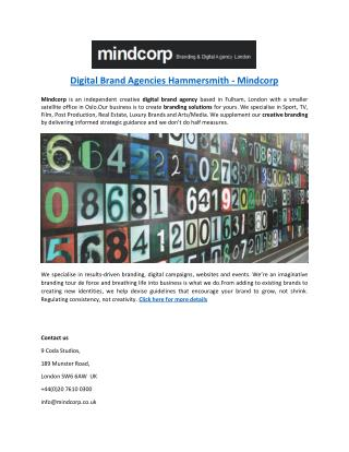 Digital Brand Agencies Hammersmith - Mindcorp