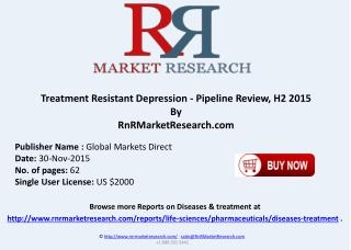 Treatment Resistant Depression Pipeline Review H2 2015