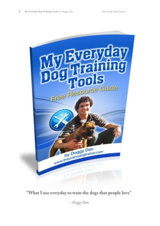 Dog Training Tools and Advice