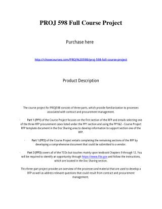 PROJ 598 Full Course Project