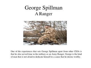George Spillman A Ranger