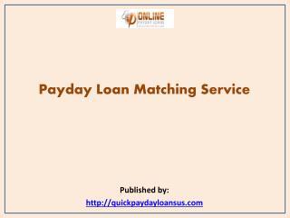 Payday Loan Matching Service