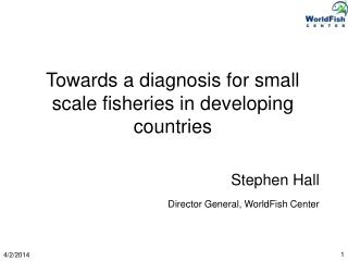 Towards a diagnosis for small scale fisheries in developing countries