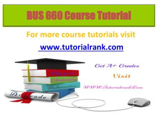 BUS 660 Potential Instructors / tutorialrank.com
