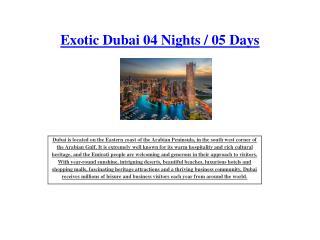 Exotic Dubai 04 Nights / 05 Days