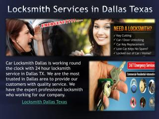 Locksmith Services in Dallas Texas