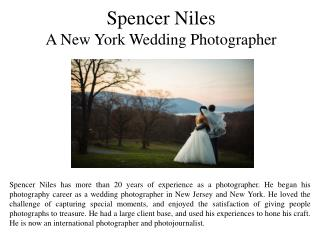 Spencer Niles - A New York Wedding Photographer