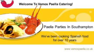 Paella parties in Southampton