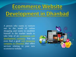 E-commerce website development company in Dhanbad