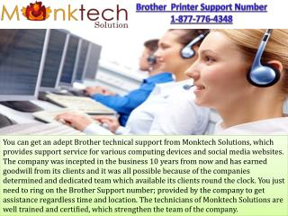 Brother Printer Support Number 1-877-776-4348