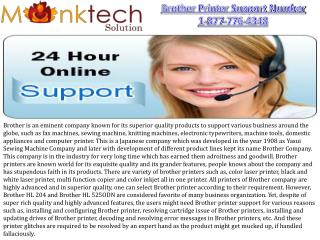 Brother Printer Support Number 1-877-776-4348 Toll free