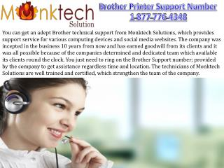 Brother Printer Support Number 1-877-776-4348 for USA and CANADA
