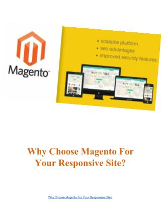 Magento Development Services For Responsive Site