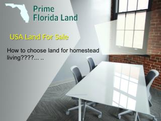 In USA Land For Sale Florida Land Lots