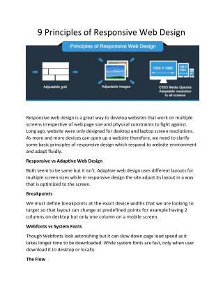 9 Principles of Responsive Web Design