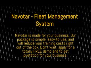 Online Fleet Management Software