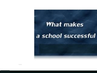 What makes a school successful