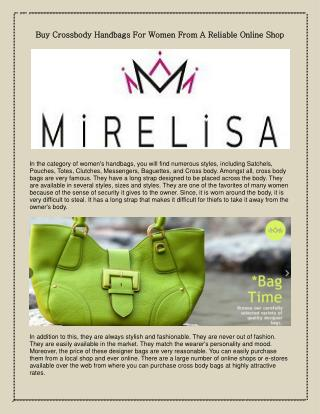 handbags for women at highly competitive rates