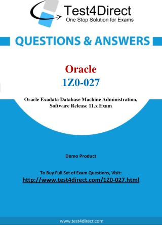 Oracle 1Z0-027 Test - Updated Demo