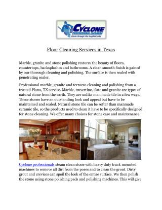 Floor Cleaning Services? in Texas