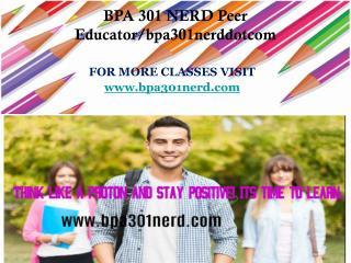 BPA 301 NERD Peer Educator/bpa301nerddotcom