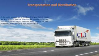 Transportation and Distribution At Canworld Logistics