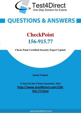 CheckPoint 156-915.77 Test Questions