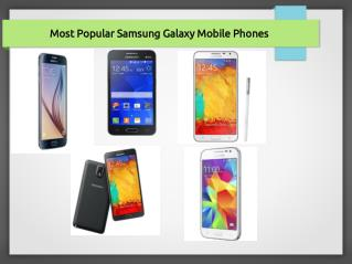Most Popular Samsung Galaxy Mobile Phones