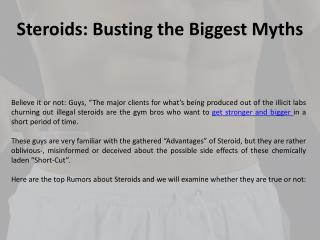 Steroids: Busting the Biggest Myths