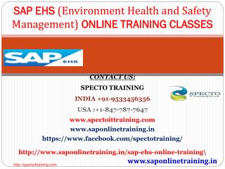 Sap ehs online training in uk|sap ehs training