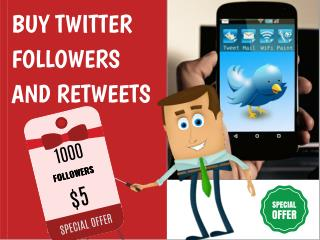 Buy Twitter Followers and Retweets