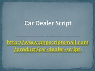 Car Dealer Script