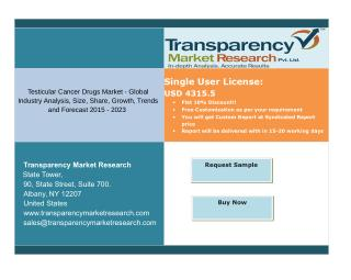 Testicular cancer drugs market global segments and forecasts up to 2023: transparency market research