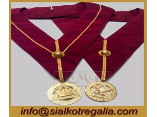 Masonic Royal Arch officer collar with jewels
